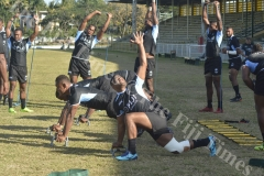 Fiji Airways 7s Team trains at Prince Charles Park in Nadi. Picture: REINAL CHAND