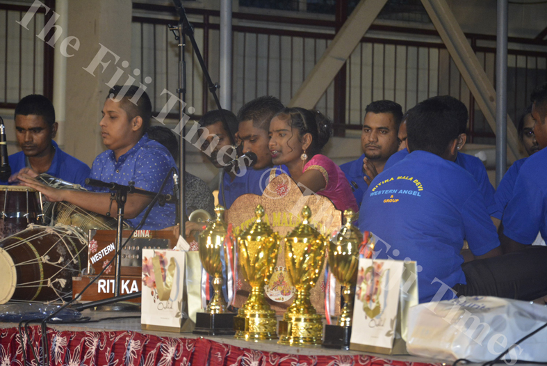 Ritika Mala Devi performs at a competition in Lautoka. Picture: REINAL CHAND