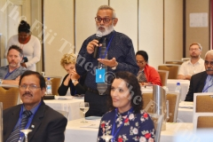 Kamlesh Arya speaking at the Joint International IDEA-FEO-HRADC Forum on electorral Processes in Suva yesterday. Picture: JOVESA NAISUA