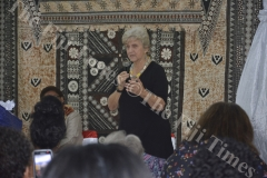Apostle Rowree Jensen speaks during the Transformation International Fiji's 3rd Conference for Women on the Frontline in Lautoka. Picture: REINAL CHAND