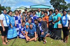 Parents of St Mark house after the pass out parade at Gospel High School yesterday. Picture: JOVESA NAISUA