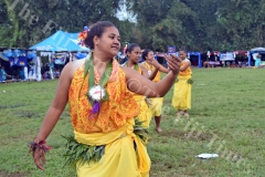 Lelean Memorial School students perform an island dance during the school's Diamond Jubilee cebration at the school ground in Nausori on Friday, July 06, 2018. Picture: SOPHIE RALULU
