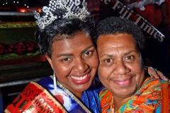Miss Coral Coast Carnival winer Miss Jubaniwai Sudesh Transport Cema Bolawaqatabu with her mother Vasiti Bolawaqatabu. Pix: BALJEET SINGH
