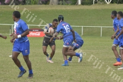 Natabua High School Jone Nasilasila attacks against Cuvu College in the  Fiji Secondary Schools Rugby West Zone under 17 semi-finals at Prince Charles Park in Nadi this afternoon.Pic.BALJEET SINGH