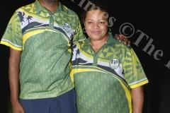 Amitesh Chandra (left) with  Jennie Osborne at Denarau Golf Course. Picture: BALJEET SINGH