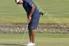 Amitesh Chandra in action at Denarau Golf Course. Picture: BALJEET SINGH