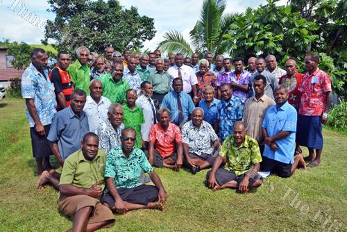 Participants of the Nalawa District bose ni vanua in Ra. Picture: REINAL CHAND