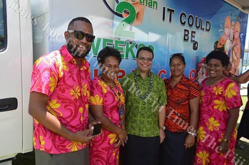 """Members of the National TB Unit during the launch of the """"Breathe Well"""" mobile clinic service in Savusavu last year. Picture: FT FILE"""