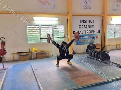 Taniela Rainabogi during a training session in Noumea, New Caledonia. Picture: SUPPLIED