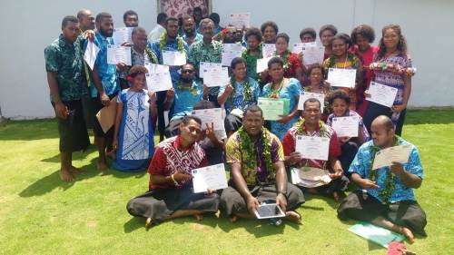 The training participants with their certificates. Picture: SUPPLIED