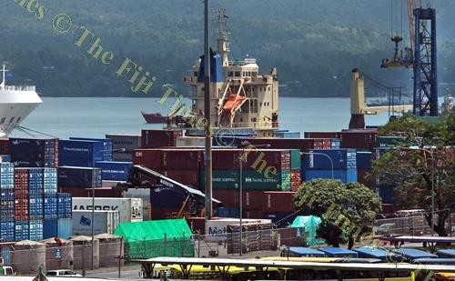 Containers at Suva's King's Wharf. This week the FRCS will look into the number of duty concessions available and the requirements that has to be fulfilled in order to qualify for these concessions. Picture: ELIKI NUKUTABU