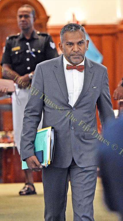 Minister for Industry, Trade, Tourism, Lands & Mineral Resources Faiyaz Koya at Parliament on Monday. Picture: RAMA