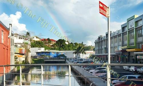 Members of the public have been reminded that during high tide, Suva's Greig St car park area will be prone to short-term surface flooding. Picture: ATU RASEA