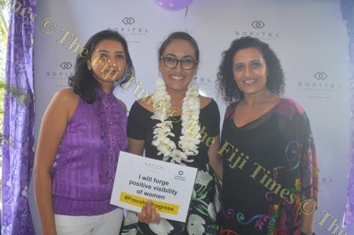 Guests during the International Women's Day celebrations at the Sofitel Fiji Resort and Spa. Picture: SHAYAL DEVI