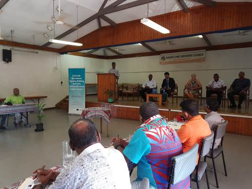 Sugarcane grower cooperative executives attending a capacity building workshop in Lautoka this morning. Picture: FELIX CHAUDHARY