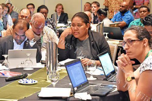 Regional and local participants at the Pacific Regional Dialogue on Nationally Determined Contributions (NDCs) for the Pacific Islands seminar at Holiday Inn Suva. Picture: RAMA