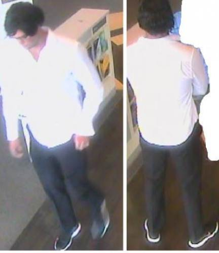 The suspect in the ASB Bank robbery in Hamilton as captured on CCTV surveillance. Picture: SUPPLIED/NZPF