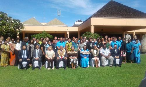 Participants at the meeting to Develop the Pacific Action Plan for WHO Special Initiative on Climate Change and Health in Nadi today. Picture: REPEKA NASIKO