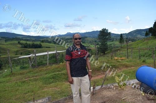Iqbal Hussein at his farm in Coqeloa, Labasa. Picture: SUPPLIED