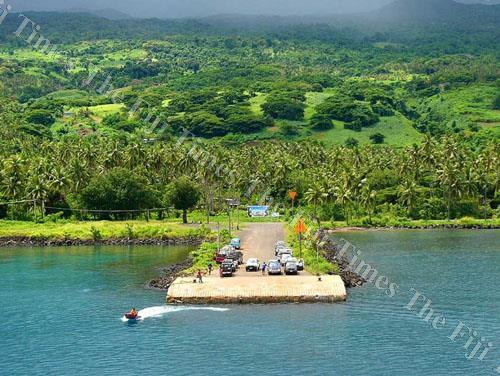 A view of jetty at Taveuni from the sea. Picture: LUKE RAWALAI