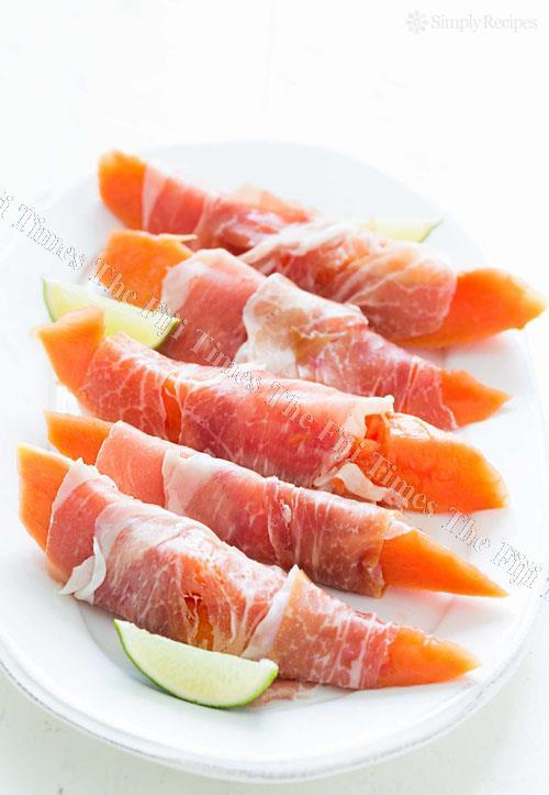 Prociutto or bacon are great when wrapped with papaya. Picture: SUPPLIED