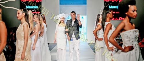 "Fijian designer Michael Mausio, with his ""Mausio"" collection during the Fiji Fashion Week. Picture: FOTOFUSION/SUPPLIED"