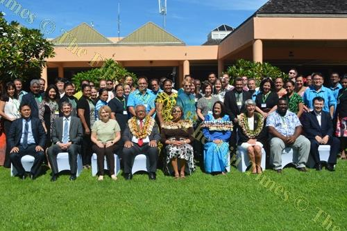 Delegates at the Meeting to Develop the Pacific Action Plan for the WHO Special Initiative on Climate Change and Health in Small Island Developing States in Nadi. Picture: REINAL CHAND