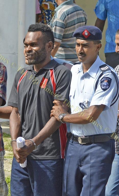 Ilaisa Calevu outside the Sigatoka Magistrates Court yesterday. Picture: BALJEET SINGH