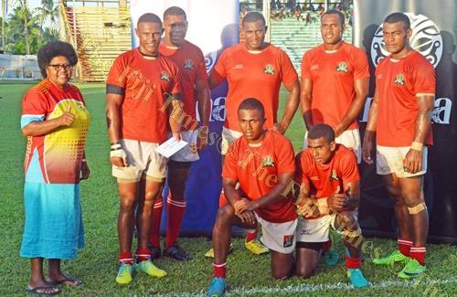 Plate winner ... The FTG 7s team during the Uluinakau 7s last week. Picture: PAULINI RATULAILAI