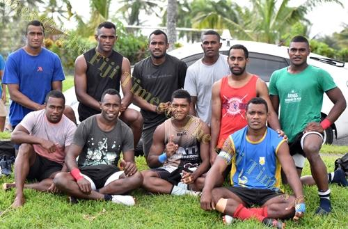 The Suva Stallions rugby team at Suva Grammar School grounds yesterday. Picture: RAMA