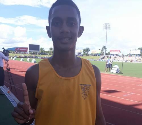 Lion cub ... George Simpson wins Gold for Suva Grammar School. Picture: Alisi Vucago