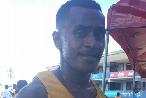 Another 200m win for Suva Grammar School in the Junior grade to Malasebe Tuvusa. Picture: Alisi Tuvusa