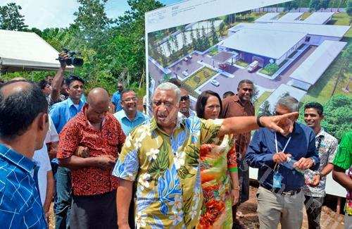 Prime Minister Voreqe Bainimarama after the groundbreaking ceremony of the new Navosa Hospital yesterday. Picture: BAJEET SINGH