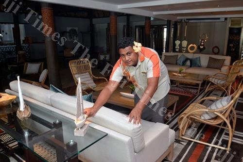 Emmanuel Fumanu at the Golden Cowrie Restaurant at Shangri-La's Fijian Resort in Sigatoka. Picture: BALJEET SINGH