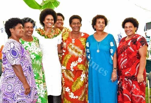Nanise Rainima (third from left) at the launch. Pictures: Supplied