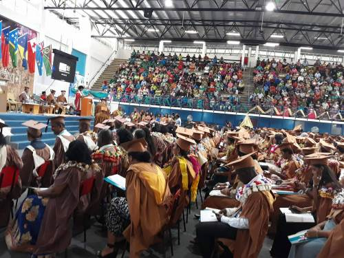 The first of two days of USP graduation ceremonies took place this morning. Picture: Alisi Vucago