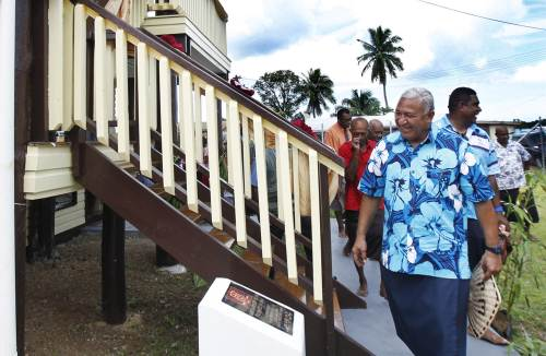 The Nabua resource centre was opened by the PM this morning. Picture: ATU RASEA