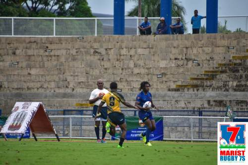 Tabadamu's Nasoni Roko in action earlier today. Picture: MARIST 7s