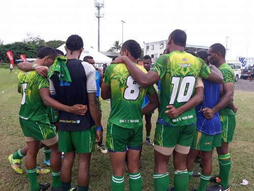 Qai Ae Muri Qore ... the Vuna team aim to make it past the elimination in their debut of the Marist 7s tournament. Picture: ALISI VUCAGO