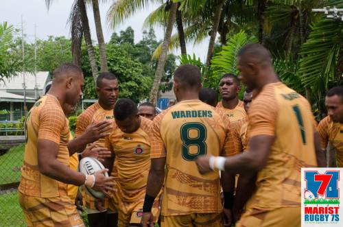 The Wardens team in training earlier today. Picture: MARIST 7s