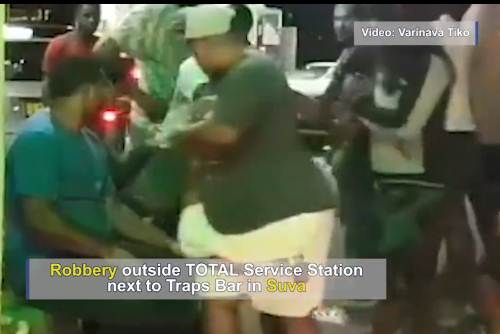 A screen grab from the video taken by Varinava Tiko of the incident. Picture: Screen Grab