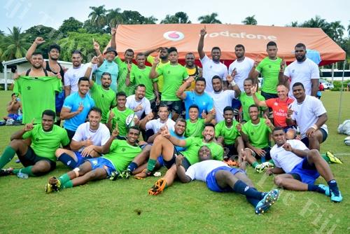 Members of the Pacific Combine team at Albert Park in Suva yesterday. Picture: JOVESA NAISUA