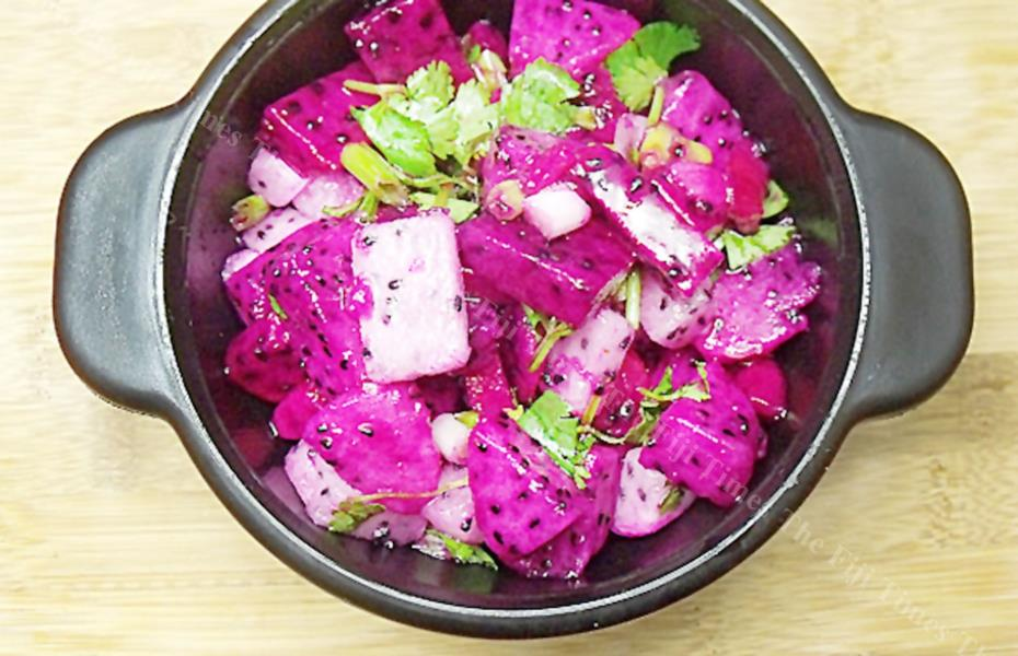 Dragonfruit salsa is perfect with Mexican foods. Picture: SUPPLIED