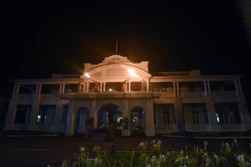 The Grand Pacific Hotel observing Earth Hour, organised by WWF International, last night. Picture: RAMA
