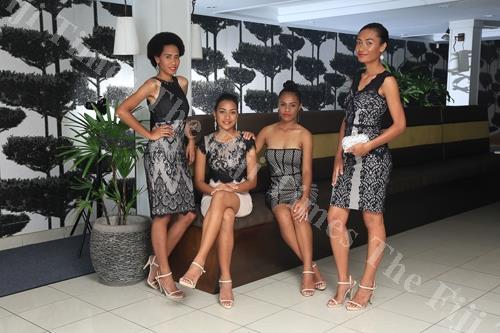 Fijian models Serenia Raura, Sina Logoake, Rachel Rogers and Ana Waqaniburotu during a photoshoot promoting resort wear at the Novotel Suva Lami Bay. Picture: SUPPLIED