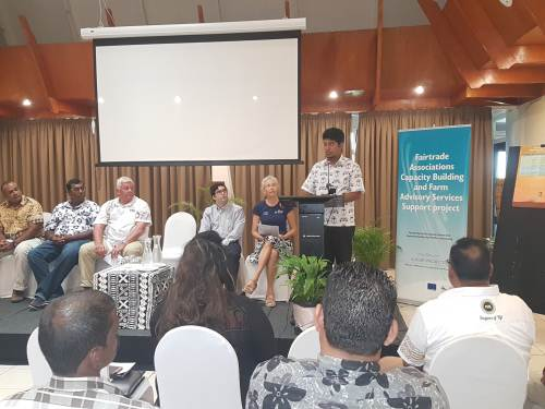 Fiji's Sugar Ministry director Sanjay Kumar speaking at the launch of SPC's farmer handbook at the Tanoa International Hotel in Nadi this morning. Picture: FELIX CHAUDHARY