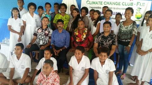 Student members of the Climate Change Club in Labasa. Picture: SUPPLIED