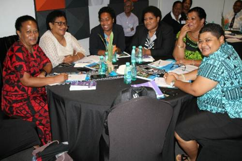 Workshop participants at the Pearl Resort. Picture: SUPPLIED