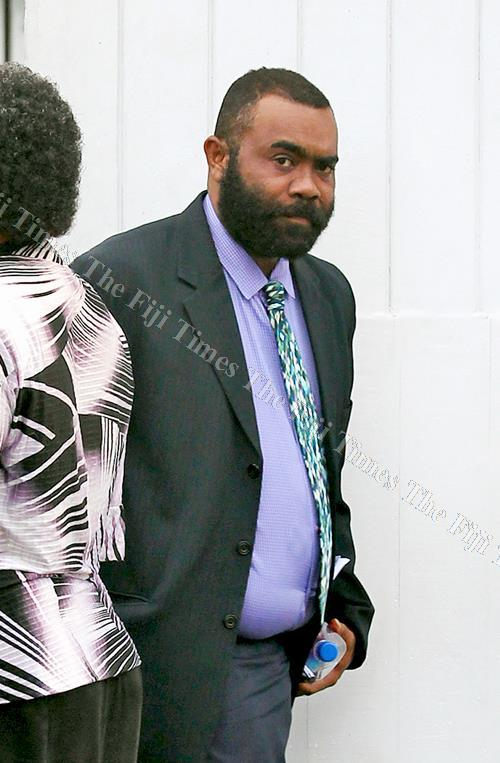 Member of Parliament Mosese Bulitavu outside the Suva Magistrates Court on May 17, 2017. Picture: ATU RASEA
