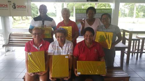 The winners of the golf competition. Picture: SUPPLIED